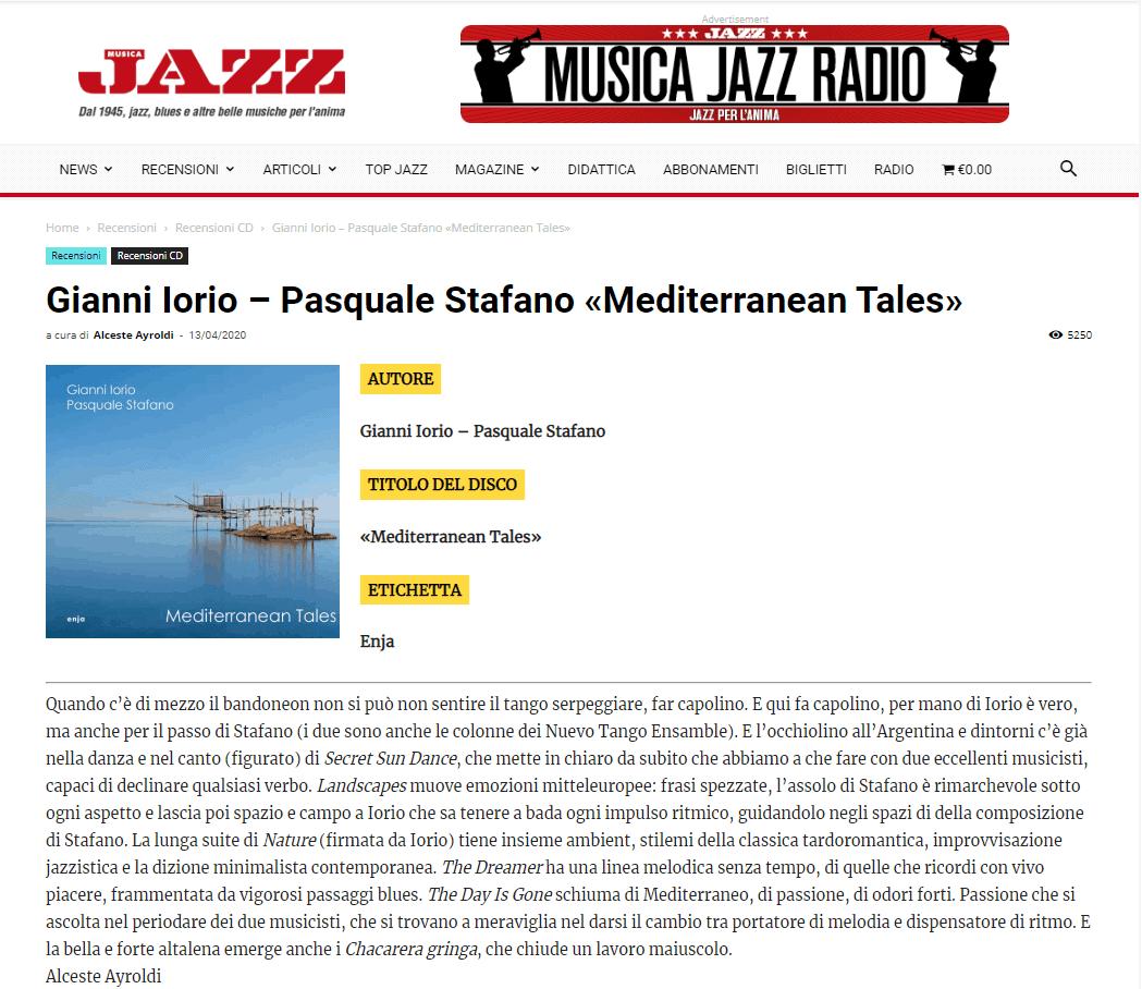 Musica Jazz - Mediterranean Tales di Alceste Ayroldi