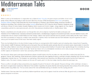 Mediterranean Tales - All About Jazz USA - Ian Patterson Review