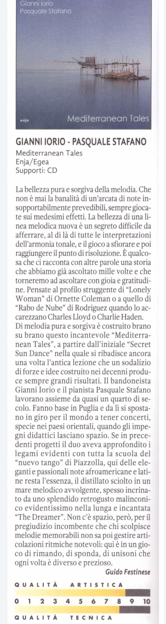 Mediterranean Tales - Recensione di Guido Festinese - Audioreveiw