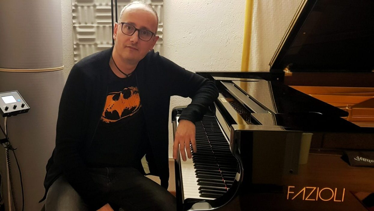 Pasquale Stafano pianist in recording studio